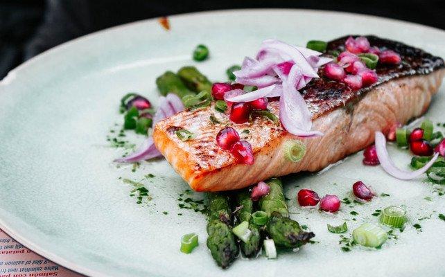Vegan Keto Diet Meal Salmon