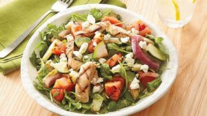 Chicken, Cheese, And Veggies Salad low carb lunch ideas